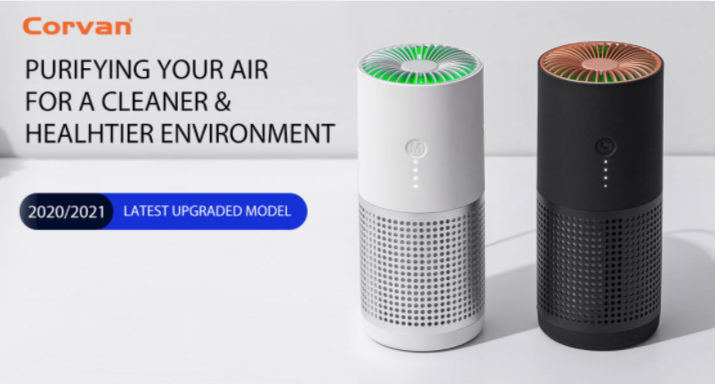 Corvan Personal Air Purifier AP02 (up to 150ft²) - Black