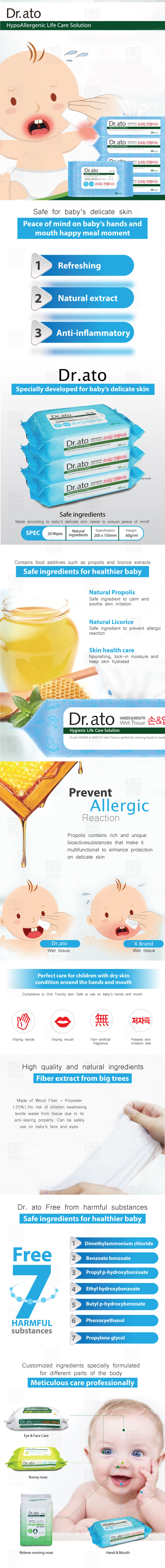 Dr. Ato Wet Tissue Hand & Mouth