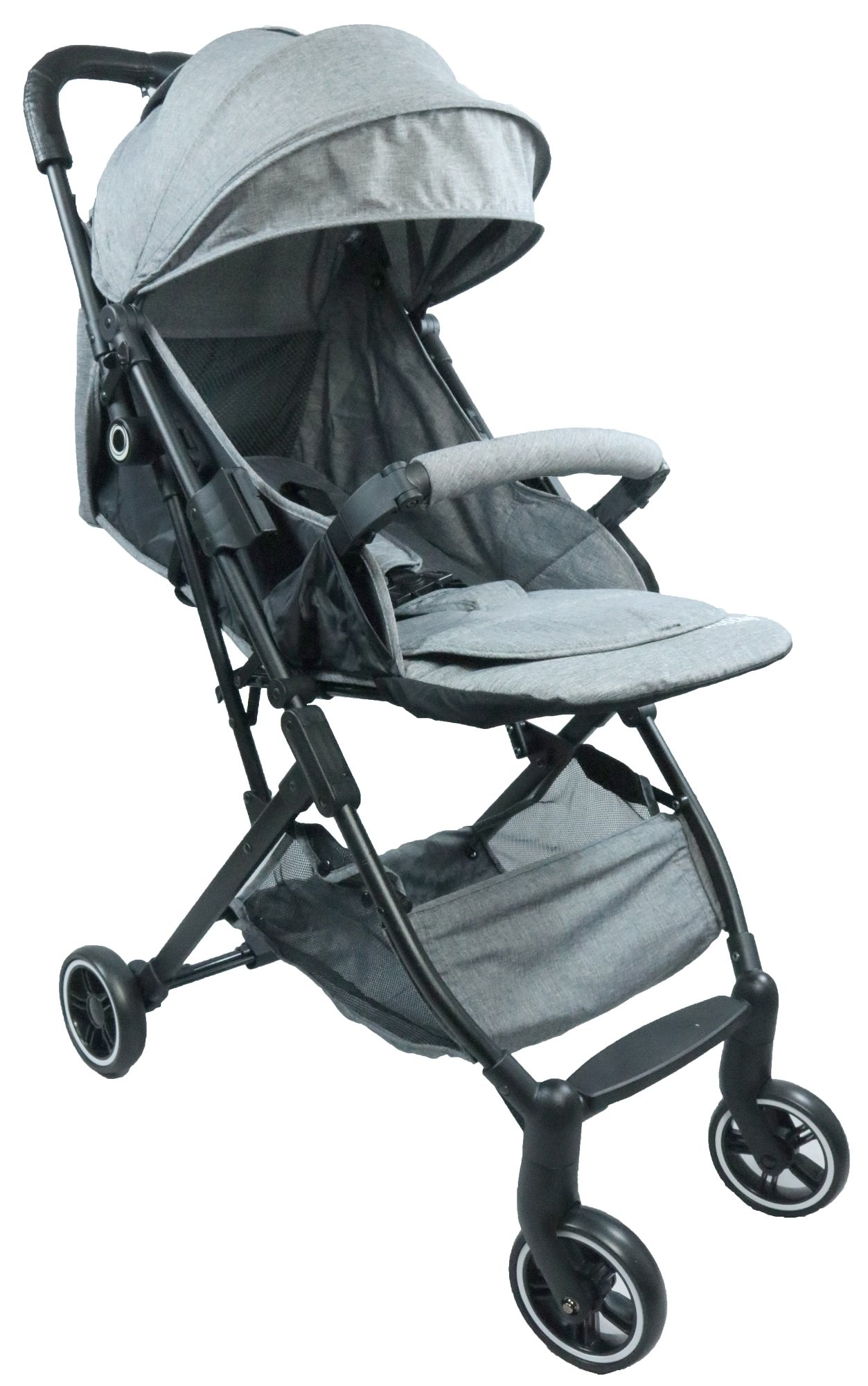 Hugo Baby Volare Portable Stroller (Grey) with FREE PU Leather Handle Cover + Stroller Cover Bag (Exclusive)
