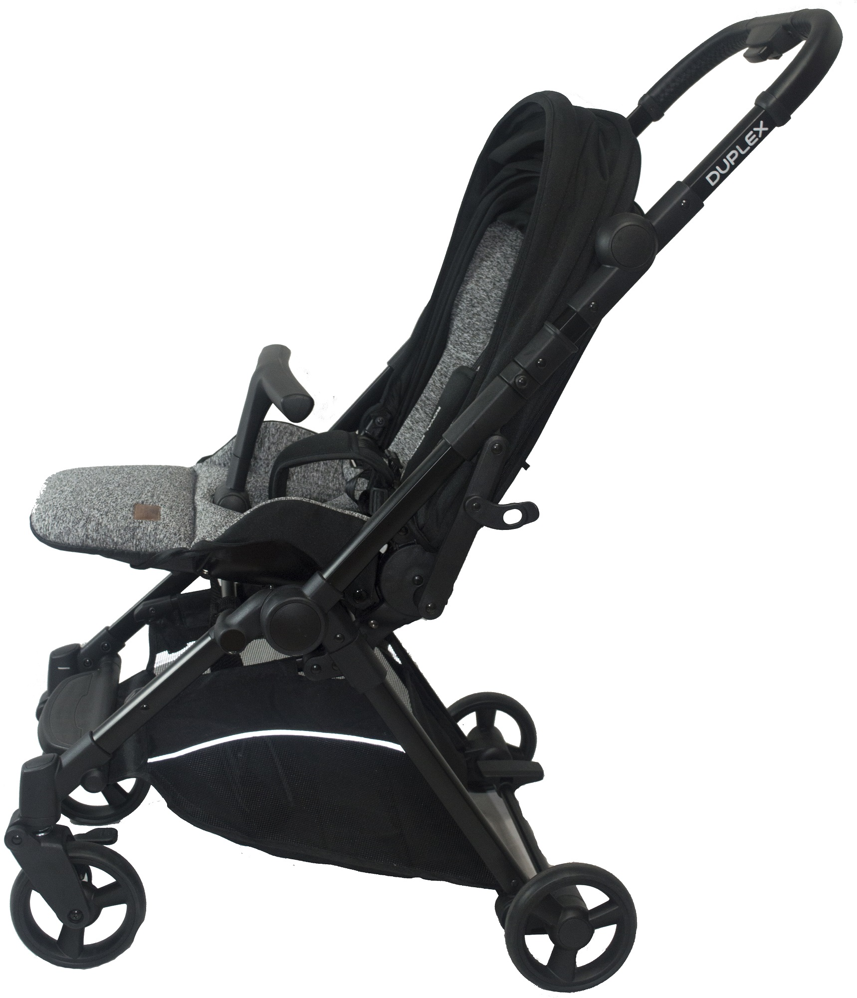 Royal Kiddy London Duplex Compact Double Facing Stroller Grey with FREE Travelling Bag, Mosquito Net and Rain Cover
