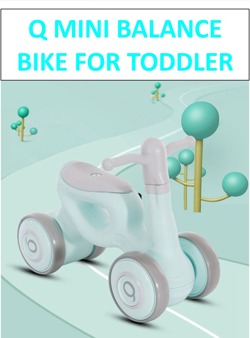 Long Dragon Q Mini Balance Bike Walker for Toddler from 1 to 3 Year old FREE 6 Months Warranty (Pink /Grey)