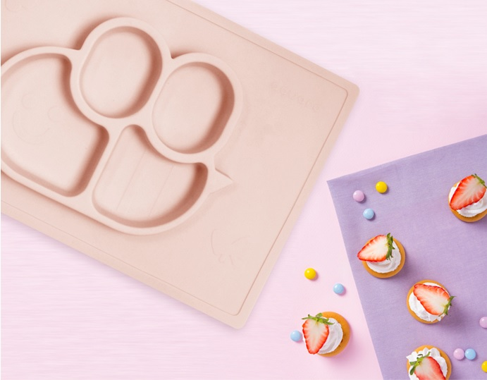 Mammabee Plate - Dusty Pink