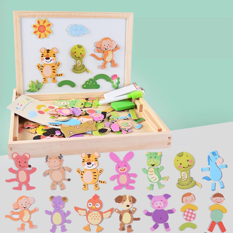 100pcs Wooden Multifunction Writing Magnetic Drawing Board (VIP Branded)