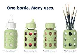Lifefactory 9oz Glass Baby Bottle with Protective Silicone Sleeve