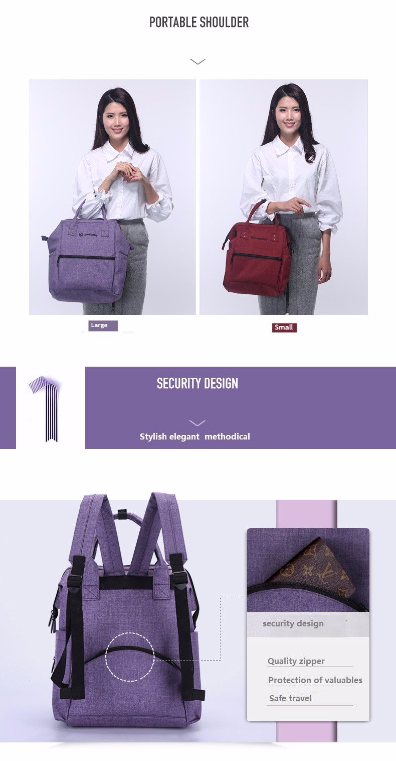 Lekebaby Diaper Bags Large Size (22L Hand Carry) Multi functional suitable for Daddy & Mummy