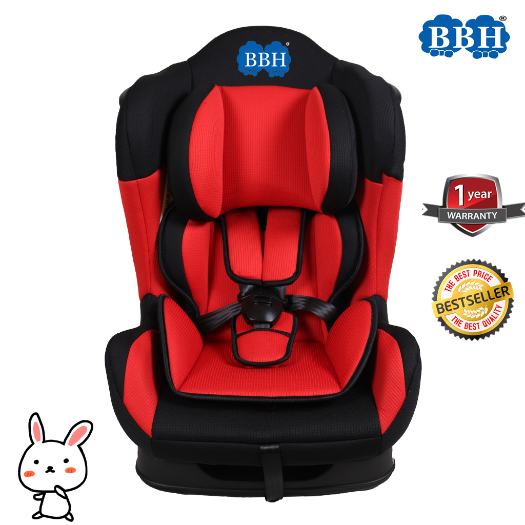 BBH Baby Convertible Car Seat + Free Toy (3 Months - 6 Years) (Red)