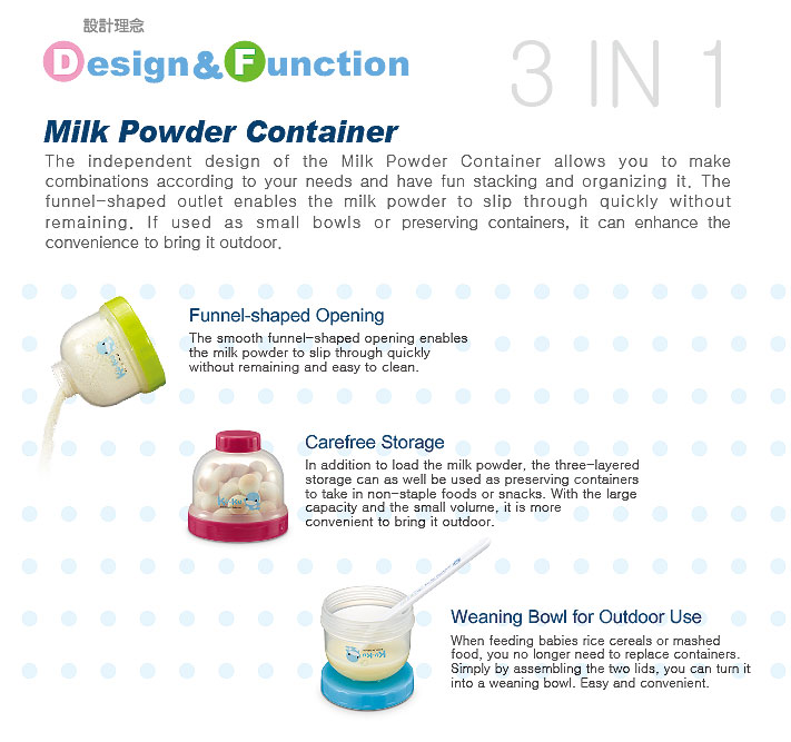 Kuku Duckbill 3 Tier Milk Powder Container KU5465