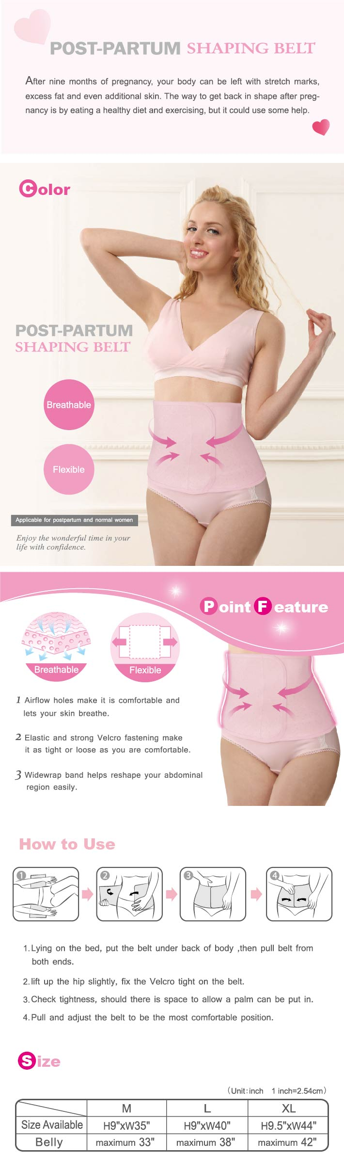 Kuku Duckbill S7510  Post - Partum Shaping Belt XL