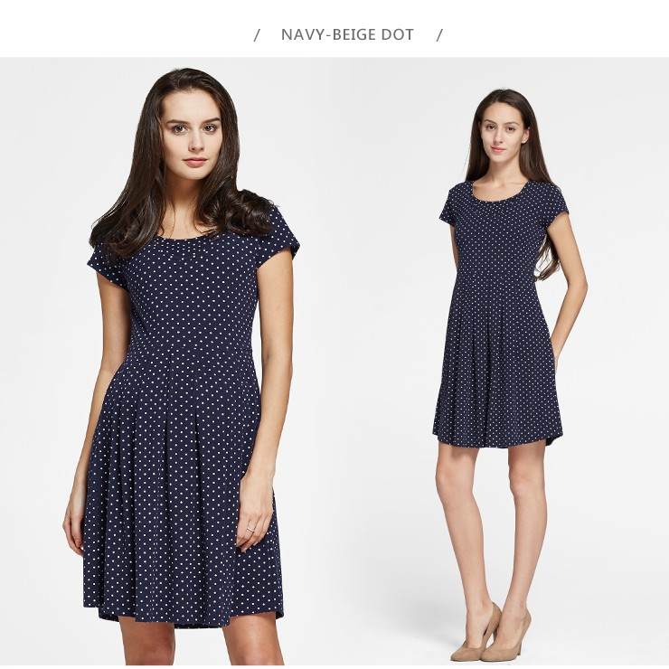 Classic Maternity & Nursing Skater Dress