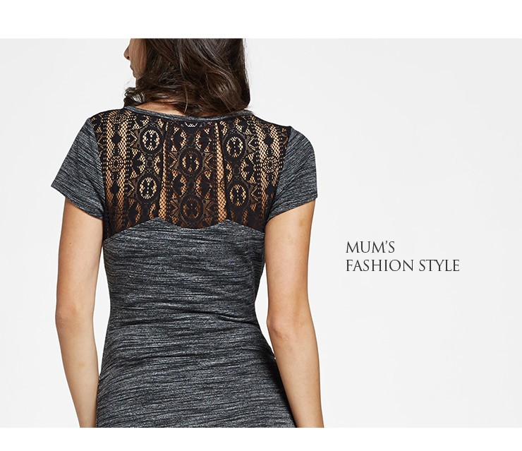 Stone and Lace Maternity & Nursing Bodycon Dress